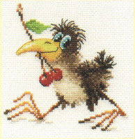 Baby Crow Cross Stitch Kit by Alisa