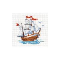 Ship Cross Stitch Kit by Alisa