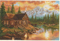 Evening in the mountains Cross Stitch Kit by Alisa