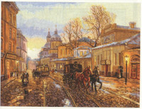 Autumn Coach - Pakrovka Cross Stitch Kit by Alisa