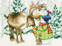 Counted Cross Stitch: Ornamental Reindeer By Dimensions