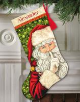 Secret Santa Stocking Cross Stitch Kit by Dimnesions
