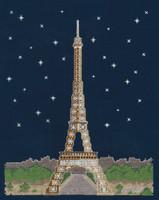 """Paris By Night """"Glow in the Dark"""" Cross Stitch Kit By DMC"""