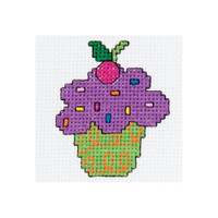 My 1st Stitch Cupcake Mini Counted Cross Stitch Kit By Bucilla