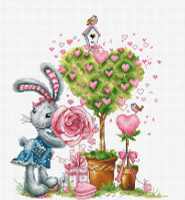 Bunny Girl Cross Stitch Kit By Luca S