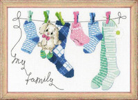 My Family Cross Stitch Kit by Riolis