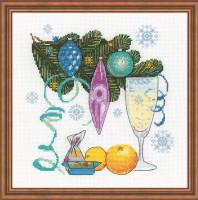 Happy New Year Cross Stitch Kit by Riolis