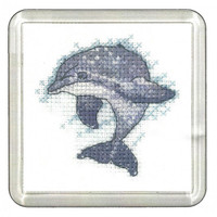 Dolphin Cross Stitch Coaster Kit By Heritage