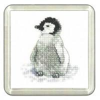 Penguin Cross Stitch Coaster Kit By Heritage