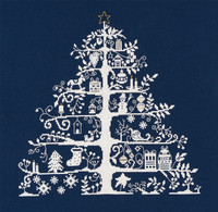 Christmas Tree Blue Cross Stitch Kit By DMC
