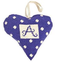 Purple Alphabet Heart Lavender Heart Tapestry Kit