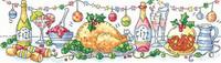 Christmas Dinner Cross Stitch Kit By Karen Carter