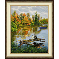 Fishing Time Cross Stitch Kit by Oven