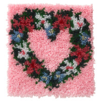 Heart Wreath Latch Hook Kit by WonderArt
