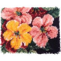 Brilliant Blossoms Latch Hook Kit By Wonderart