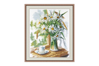 Chamomiles on the window cross stitch Kit By Oven