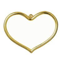 Frame: Plastic: Heart Shaped: 8 x 5cm: Gold