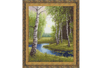 Birch edge Cross Stitch Kit by Golden Fleece