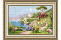 Blooming Italy Cross Stitch Kit by Golden Fleece