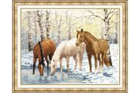 Horses near the river Cross Stitch Kit by Golden Fleece