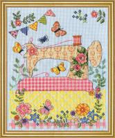 Sewing Machine Cross Stitch Kit By Design Works