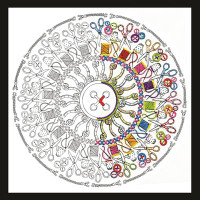 Zenbroidery - Sewing Mandala Embroidery Kit By Design Works