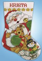Santa  Christmas Stocking Kit By Design Works