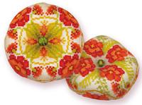Poppy Biscornu Cross Stitch Kit By Riolis