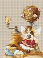 coffee Fairy Cross Stitch Kit By Luca S
