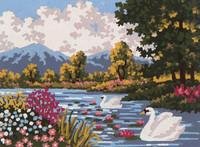 River Landscape Tapestry Canvas By Grafitec