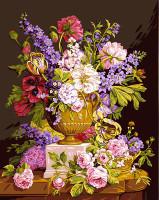 Bouquet Ancien Canvas By Grafitec