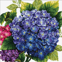 Hydrangea No Count Cross Stitch Kit By Riolis