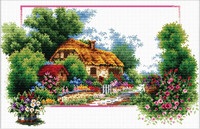 English Cottage Lane No Count Cross Stitch Kit By Riolis