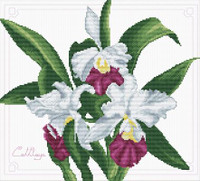 Bouquet of Orchids No Count Cross Stitch Kit By Riolis