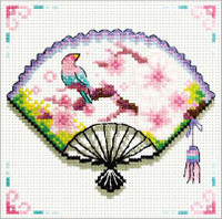 Cherry Blossom Fan No Count Cross Stitch Kit By Riolis