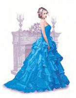 'Isla' Elegance Lady Cross Stitch Kit By Heritage