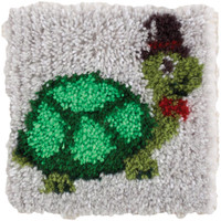 Turtle Latch Hook Rug Kit By Wonderart