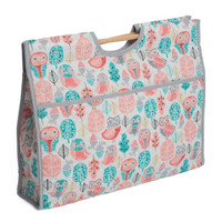 Classic Collection: Craft Bag with Wooden Handles: Owls