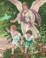 Guardian Angel  Tapestry Canvas By Collection D'art