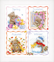 Counted Cross Stitch: Four Seasons with Popcorn By Vervaco