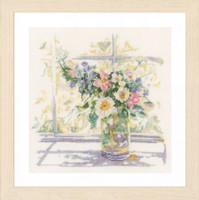 Bouquet of Flowers Cross Stitch Kit by Lanarte