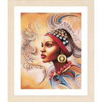 Mother Africa Cross Stitch Kit by Lanarte