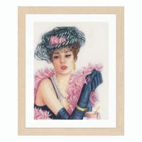 Elegant Lady Cross Stitch Kit by Lanarte