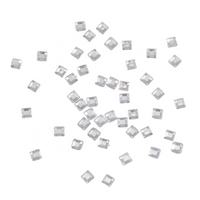 Gems: Square: Silver: Pack of 400