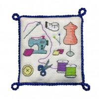 Sewing Pincushion  Cross Stitch Kit by Textile Hertiage