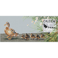 Ducks day Out Cross Stitch Kit by Pollyanna