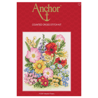 Cross Stitch Kit: Meadow Flowers By Anchor