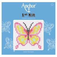 Butterfly Beginner 1st Cross Stitch Kit By Anchor