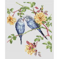 Budgie Love Cross Stitch Kit by Natural World