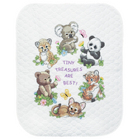 Stamped Cross Stitch: Quilt: Baby Animals By Dimension